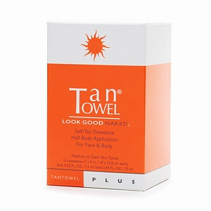 Tan Towel Half Body PLUS Face & Body - 10 pack