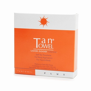 Tan Towel Full Body PLUS Face & Body - 5 pack