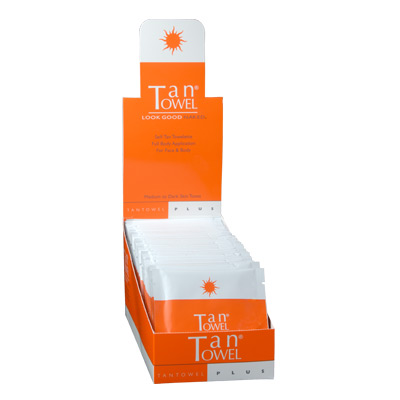 Tan Towel Full Body PLUS Towelettes - 50 pack