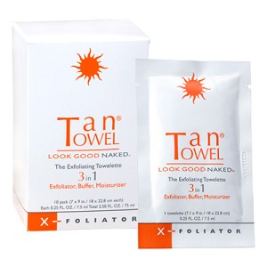 Tan Towel X-Foliator Towelettes - 10 pack